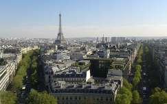 Diadalív tetejéről a Champs-Elysées, Párizs