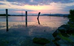 kikötői naplemente