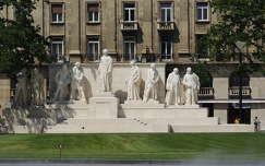 Budapest,Kossuth tér, a Kossuth kormány tagjainak szoboregyüttese