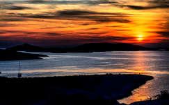 Naplemente Kornati szigetén