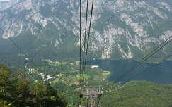 Kilátás a kabinos felvonóból, Vogel, Bohinj, Szlovénia