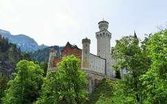 várak és kastélyok alpok nyár németország neuschwanstein kastély
