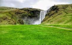 Izland, Skogafoss vízesés