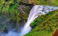 Izland,Skogafoss vízesés