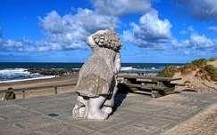 dánia szobor tengerpart