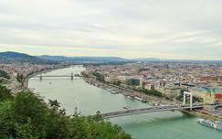 erzsébet híd duna magyarország budapest folyó híd