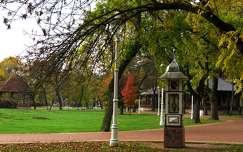 Palics, ősz, időjárást jelző oszlop