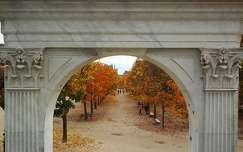 kertek és parkok ősz boltív párizs fasor franciaország