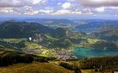 ausztria alpok siklóernyőzés tó hegy