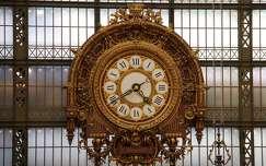 Franciaország, Párizs - Orsay Múzeum óriási faliórája