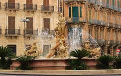 szicília olaszország szobor szökőkút