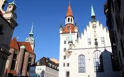 Németország, München - Régi Városháza