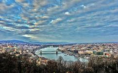 Őszi látkép a Gellért-hegyről (Gellért-hegy, Budapest, Duna, folyó, ősz, HDR)