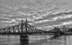 Szabadság híd, Duna, folyó, Blakc&White, HDR