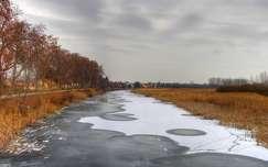 A téli Ferenc-csatorna, Dávod, Magyarország
