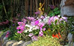 orchidea bangkok trópusi virág szobor