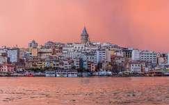 Isztambul naplementében