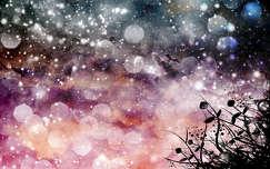 Montázs, fantázia, színek, univerzum