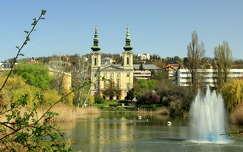 magyarország feneketlen-tó tó tavasz templom budapest szökőkút