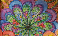 Grafika, rajz, színek, virágok