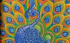 Grafika, rajz,  színek, kék, zöld, narancssárga