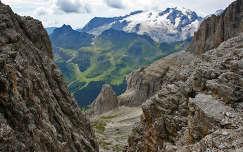 A jeges Marmolada az Olasz Alpokban