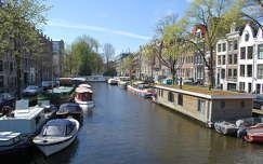 amszterdam hollandia csatorna tavasz