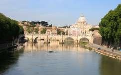 Olaszország, Róma - Angyalhíd és a Szent Péter-bazilika