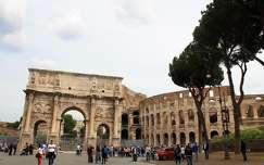 Olaszorzág , Róma - Constantinus diadalíve és a Colosseum