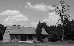 ház fekete-fehér
