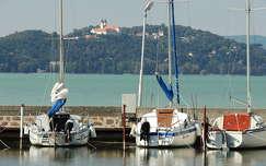 magyarország vitorlás tó tihanyi-félsziget balaton nyár tihanyi apátság