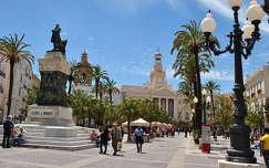 Cadíz, Plaza San Juan de Dios, Andalúzia, Spanyolország