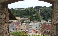 Kilátás Burghausen várából,Németország