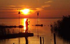Horgász naplementében Fonyód-Bélatelep