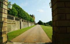A Pemberley-kastély részlete. Egyesült Királyság.