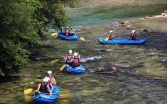 nyár szlovénia kajak
