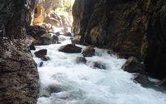 alpok szurdok németország kövek és sziklák partnachklamm folyó