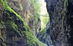 alpok szurdok németország híd kövek és sziklák partnachklamm