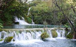 Plitvice, vízesés, Horvátország