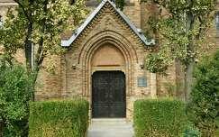Templom bejárata, Szarvas.