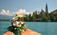 Csonakázás pletnával a Bledi-tónál, Szlovénia