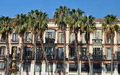 Plaza de la Constitución Málaga, Andalúcía, Spanyolország