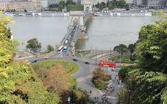 Budapest,Lánchíd a várból