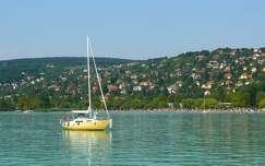 víz, nyár, Balatonalmádi, Magyarország