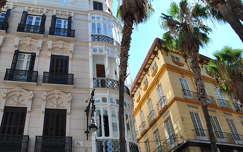 Málaga, Andalúcía, Calle Puerta del Mar, Spanyolország