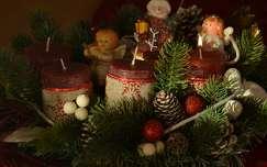 karácsonyi dekoráció gyertya advent