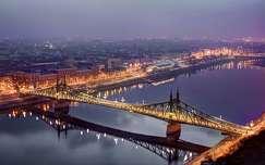 Szabadság híd hajnalban-Budapest