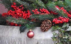 karácsonyi dekoráció toboz