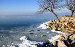 Fonyód-Bélatelepi Strand január 1-én.