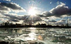 magyarország felhõ jég tó balaton fény tél